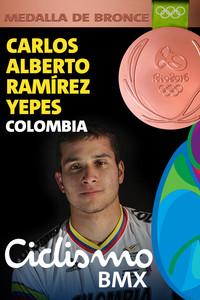 Rio 2016: Carlos Alberto Ramírez Yepes (Colombia) Medalla de Bronce Ciclismo BMX