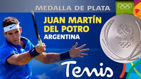 Rio 2016: Juan Martín del Potro (Argentina) Plata en Tenis