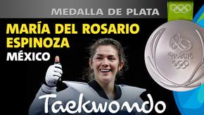 Rio 2016: María del Rosario Espinoza (México) Plata en Taekwondo