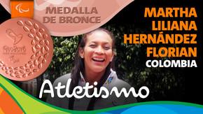 Rio 2016: Martha Liliana Hernández Florian (Colombia) Bronce en Atletismo