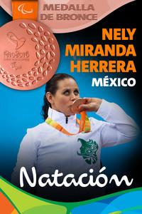 Rio 2016: Nely Miranda Herrera (México) Bronce en Natación.