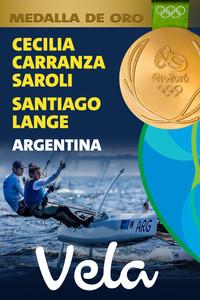 Rio 2016: Santiago Lange y Cecilia Carranza Saroli (Argentina) Oro en Vela